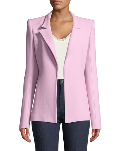 Notch-Collar Single-Hook Jacket