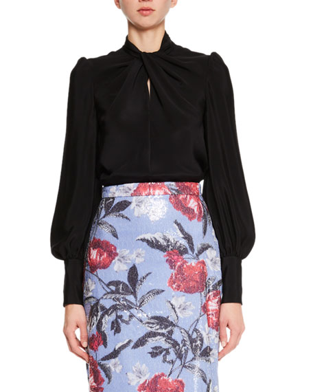 Twisted Silk Cady Blouse