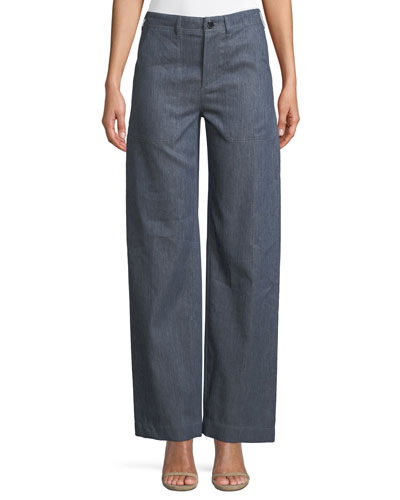 Ronnie Wide-Leg Midsummer Denim Pants