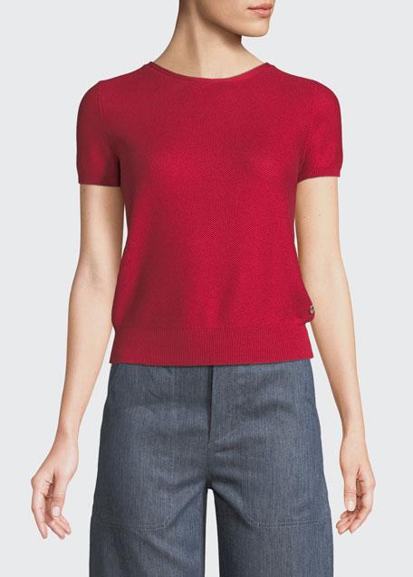 Girocollo Beausoleil Crewneck Short-Sleeve Top