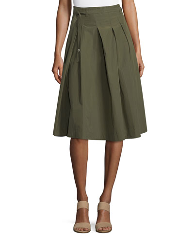 Cortney Pleated A-Line Skirt