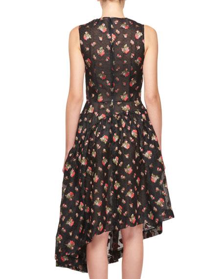Sleeveless Asymmetric Fil Coupe Dress