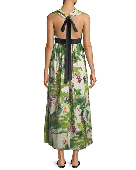 Great Oasis Tie-Waist Maxi Dress