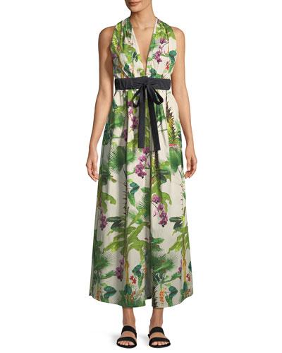 Great Oasis Tie-Waist Maxi Dress