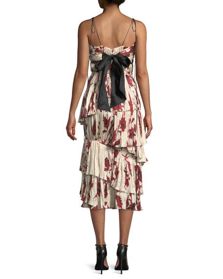 Bahia Solana Tie-Shoulder Midi Dress