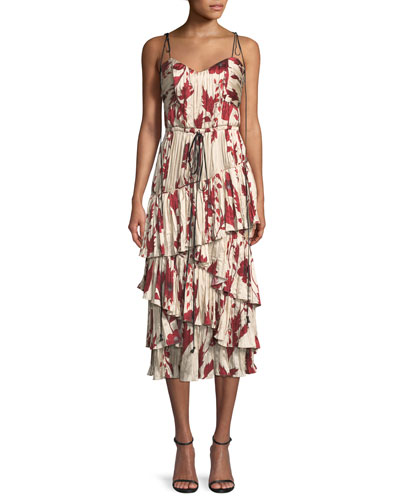 Bahia Solana Tie-Shoulder Midi Dress