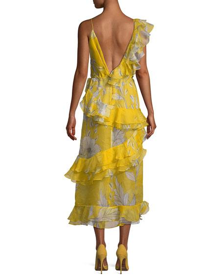 Sunlight Ruffled Organza Midi Dress