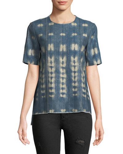 Vintage-Inspired Chambray Short-Sleeve T-Shirt