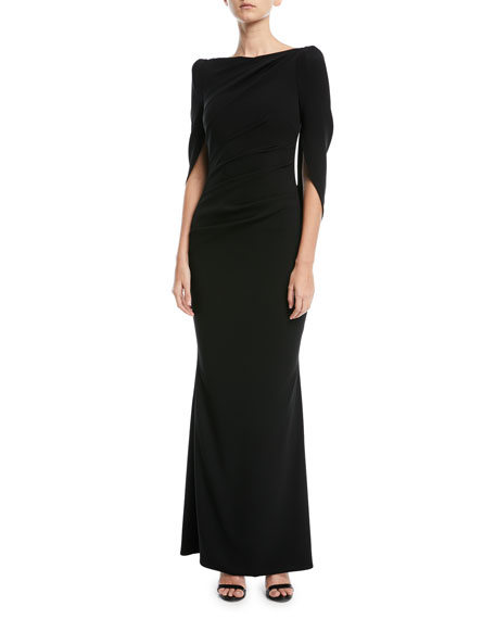 Konica Crepe Lace-Back Gown