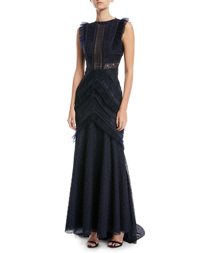 Monella Sleeveless Lace Gown