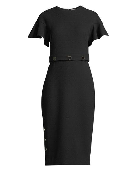 Convertible Button-On Crop Top and Skirt Dress