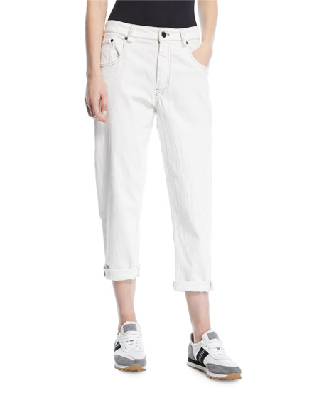 Garment-Dyed Denim Jeans