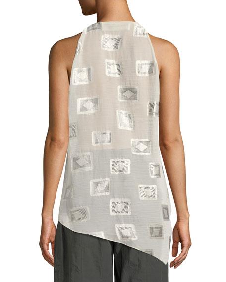 Draped Block-Print Top