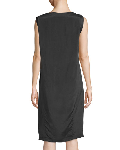 Draped Viscose/Silk Parachute Dress