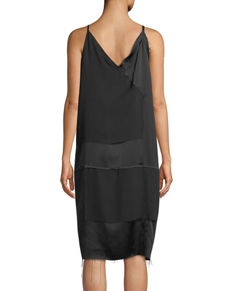 Raw-Edge Silk Cami Dress
