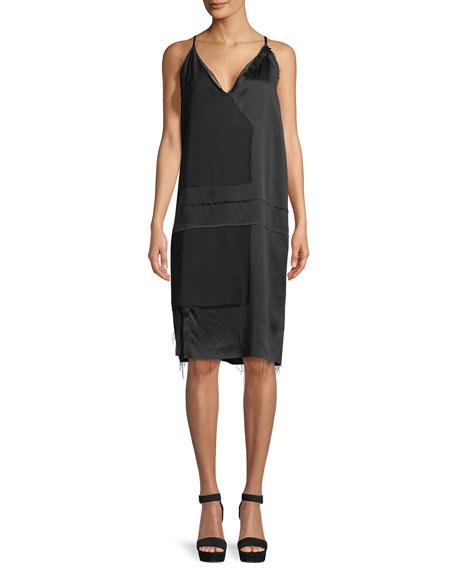Raw-Edge Silk Cami Dress