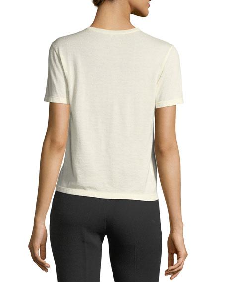 Short-Sleeve Lace-Trim T-Shirt