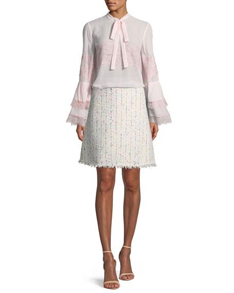 d2a8cdacf1e5 Giambattista Valli A-line Boucle Tweed Skirt