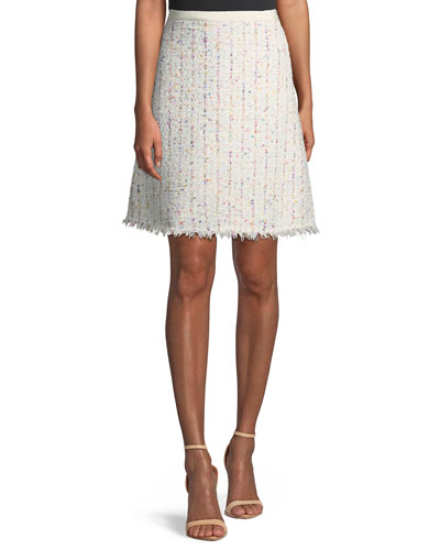 A-line Boucle Tweed Skirt