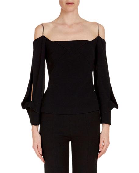 Split-Sleeve Off-Shoulder Top