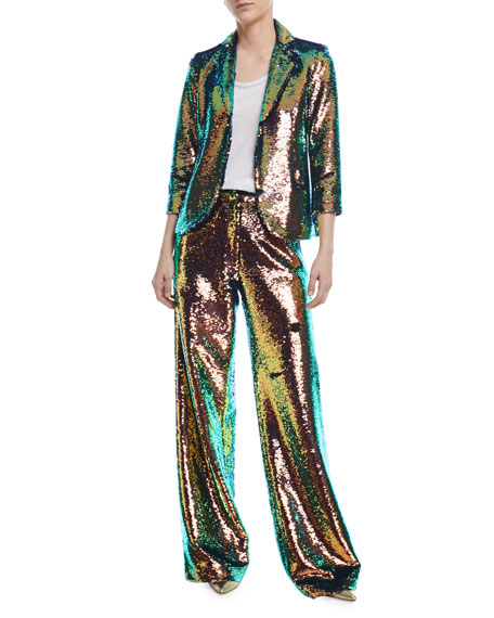 Iridescent Sequined Pants