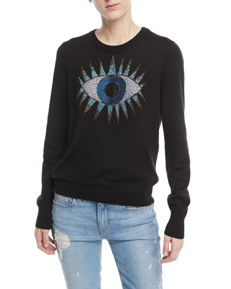 Beaded Eye Knit Sweater