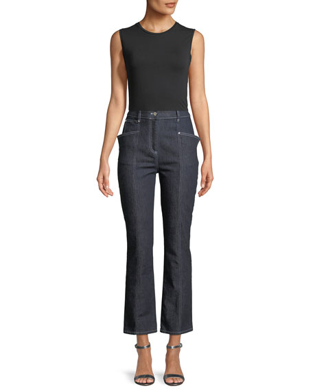 Cropped Denim High-Waist Jeans