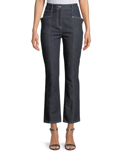 Cropped Denim High-Waist Jeans