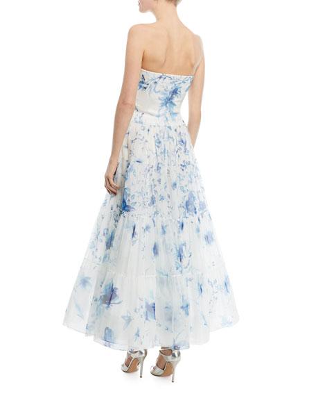 Duval Strapless Silk Gown