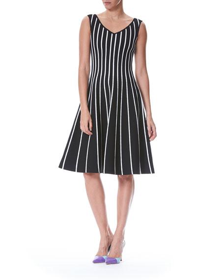 Striped A-Line Knit Dress