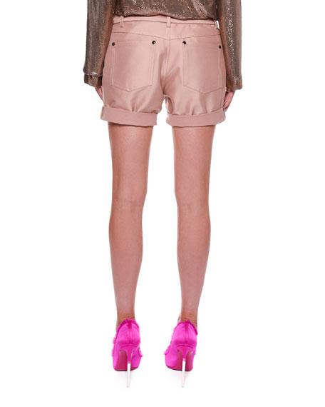 Stretch-Gabardine Shorts with Belt