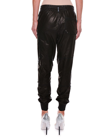 Paper Leather Slouchy Biker Pants