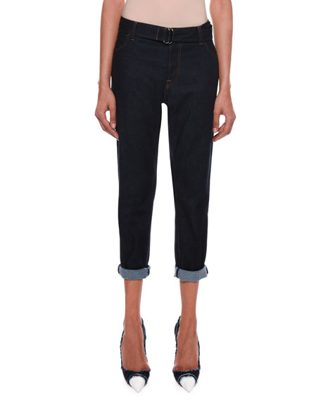Rolled-Cuff Cropped Jeans