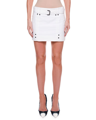 Cotton Twill Mini Skirt