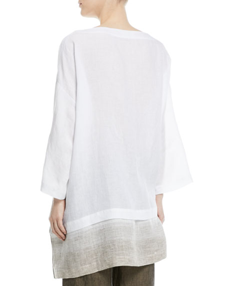 Wide A-Line Linen Tunic