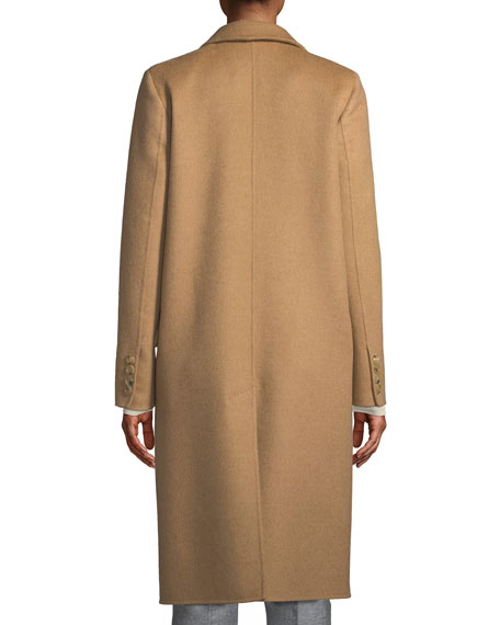 Single-Breasted Camel-Hair Coat