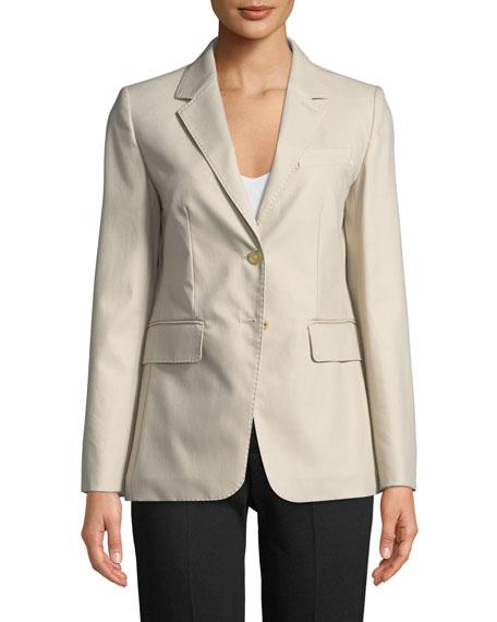 Novak Two-Button Cotton Twill Jacket