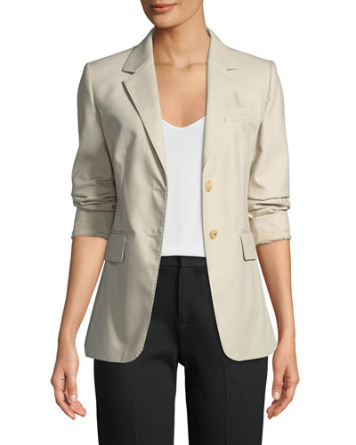 Novak Two-Button Cotton Twill Jacket
