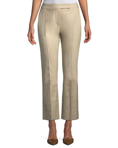 Mirto Straight-Leg Cropped Cotton Pants