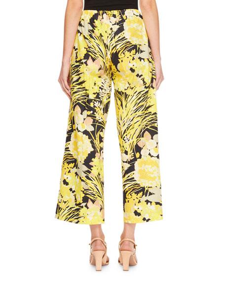 Cetara Floral Poplin Drawstring Pants