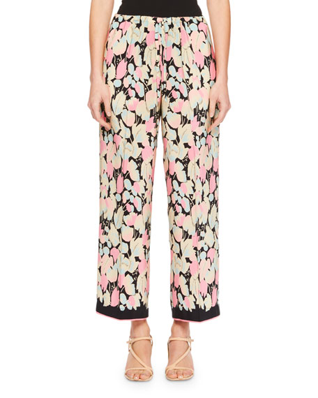 Puvis Cropped Floral Pants