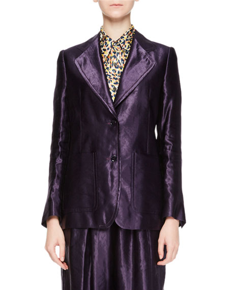 Blunt Velvet Two-Button Blazer