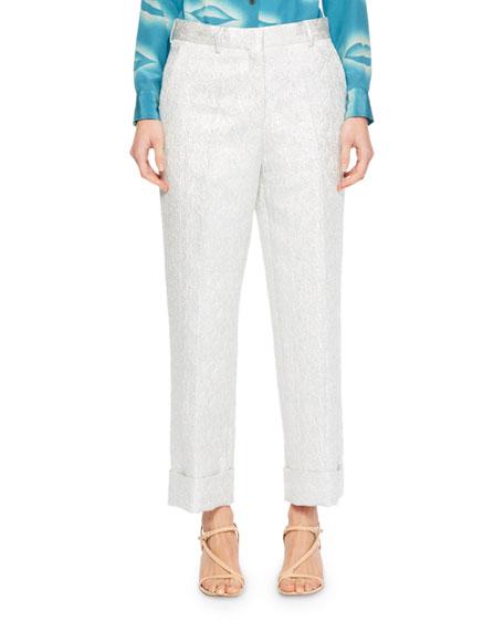 Prope Cuffed Brocade Pants