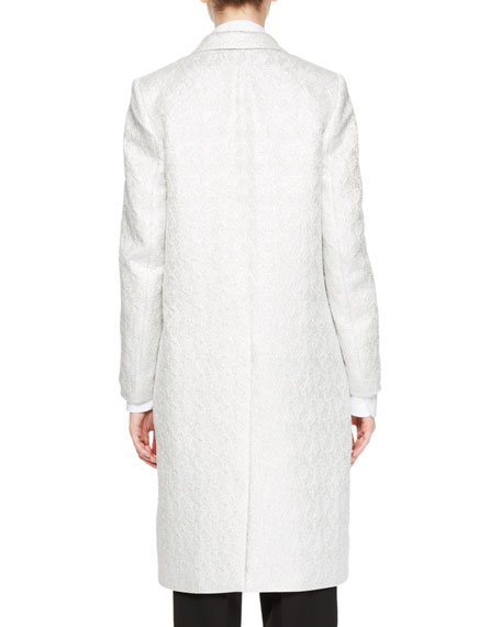 Rick Lamé Jacquard Coat