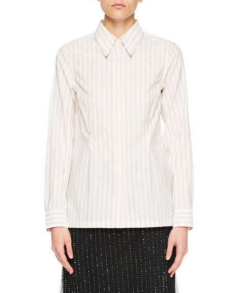 Capios Striped Poplin Blouse
