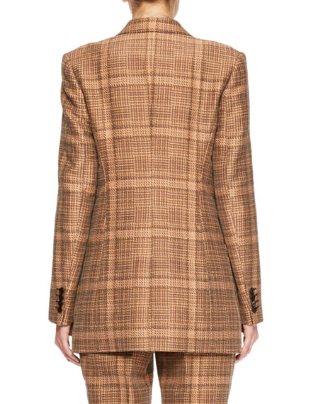 Balias Plaid Tweed Blazer