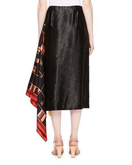 Spes Side-Scarf Skirt