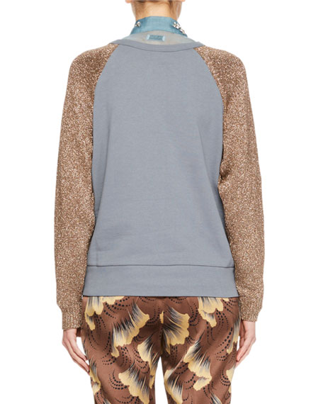 Handford Metallic Raglan Sweater