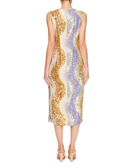 Daem Sequined Sheath Dress