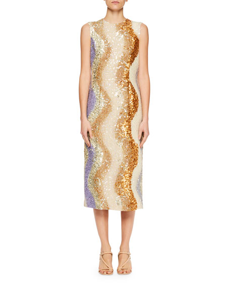 Image 1 of 1: Daem Sequined Sheath Dress